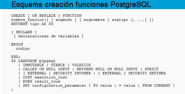 Procedimientos almacenados, Oracle vs PostgreSQL | blog